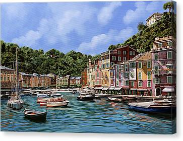Portofino Nel 2012 Canvas Print by Guido Borelli