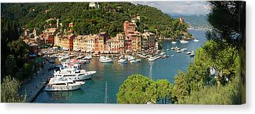 Portofino Panorama Canvas Print by Cliff Wassmann