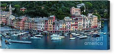 Portofino Panoramic Canvas Print by Brian Jannsen