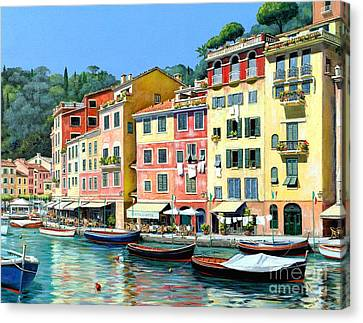 Portofino Cafe Canvas Print - Portofino Sunshine 30 X 40 by Michael Swanson