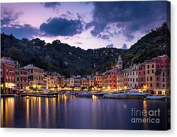 Portofino Twilight Canvas Print by Brian Jannsen