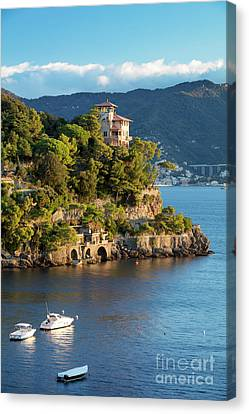 Portofino Villa Canvas Print by Brian Jannsen