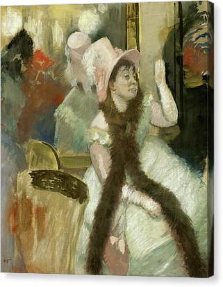 Portrait After A Costume Ball Canvas Print by Edgar Degas