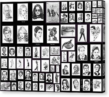 Portrait And Illustrations On Fine Art America Canvas Print by Murphy Elliott