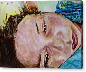 Inner World Canvas Print - Portrait And Selfportrait by Darabem Artist