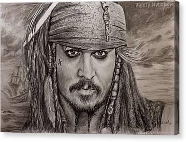 Demo Canvas Print - Portrait Captain Jack Sparrow Johnny Depp By Valery Rybakow by Valery Rybakow
