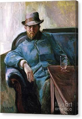 Portrait De Hans Jaeger Canvas Print by MotionAge Designs