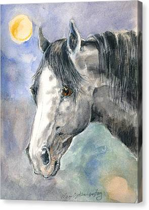 portrait Gray II Canvas Print by Mary Armstrong