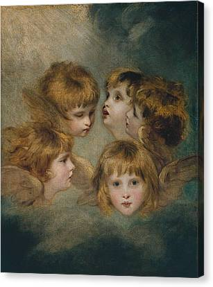 Child's Portrait In Different Views Canvas Print by MotionAge Designs