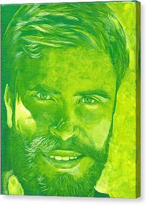 Portrait In Green Canvas Print