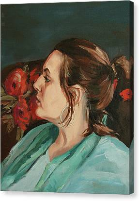 Portrait In Profile Canvas Print by Synnove Pettersen