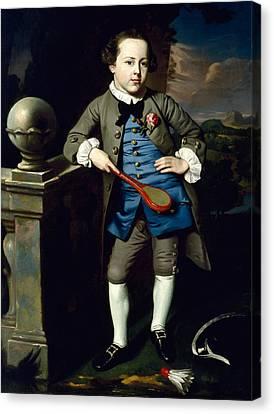 Portrait Of A Boy Canvas Print by John Singleton Copley
