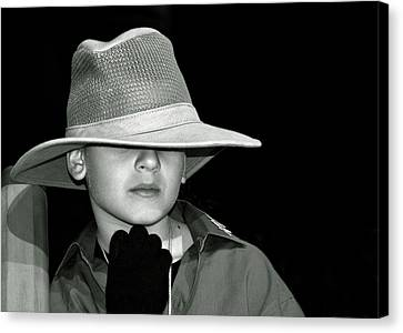 Portrait Of A Boy With A Hat Canvas Print