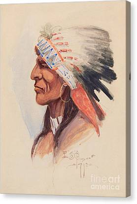Portrait Of A Chief Canvas Print by Celestial Images