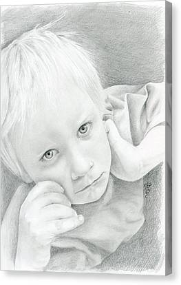 Portrait Of A Child Canvas Print by Bitten Kari