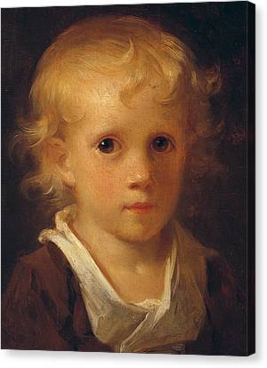 Portrait Of A Child Canvas Print by Jean-Honore Fragonard