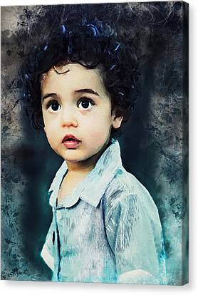 Portrait Of A Child Canvas Print