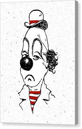 Portrait Of A Clown Canvas Print by Mimo Krouzian