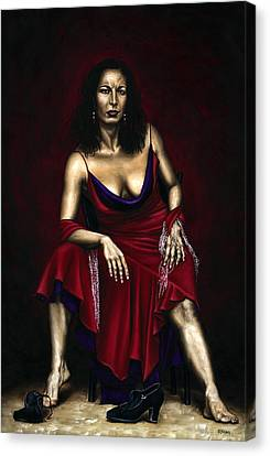 Portrait Of A Dancer Canvas Print by Richard Young