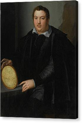 Portrait Of A Gentleman Canvas Print by Alessandro Allori