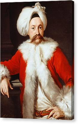 Portrait Of A Gentleman In Oriental Costume Canvas Print by Andrea Soldi