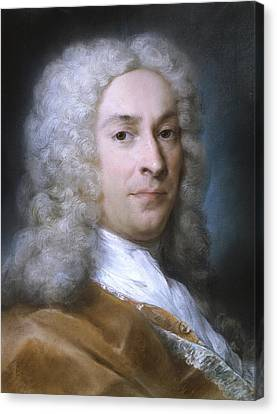 Portrait Of A Gentleman Canvas Print by Rosalba Carriera
