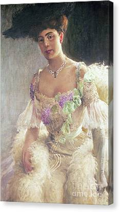 Portrait Of A Lady In Evening Dress, 1903 Canvas Print