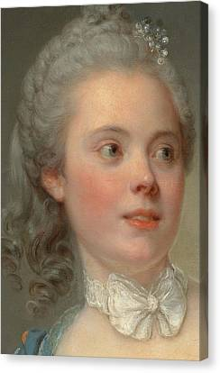 Youthful Canvas Print - Portrait Of A Lady by Jean Baptiste Greuze
