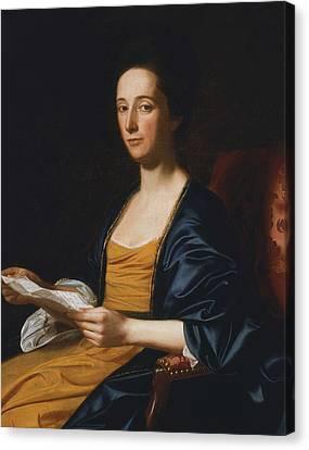Portrait Of A Lady Canvas Print by John Singleton Copley