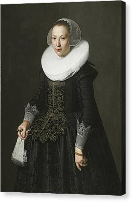 Portrait Of A Lady Canvas Print by Nicolaes Eliasz