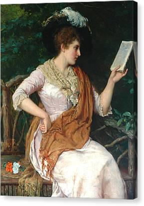 Portrait Of A Lady  Canvas Print by William Oliver