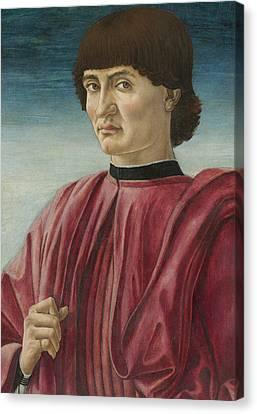 Portrait Of A Man Canvas Print by Andrea del Castagno