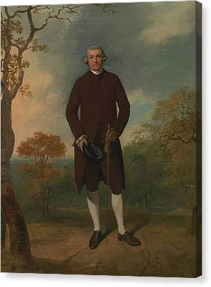 Francis Canvas Print - Portrait Of A Man, Called George Basil Woodd by Francis Wheatley