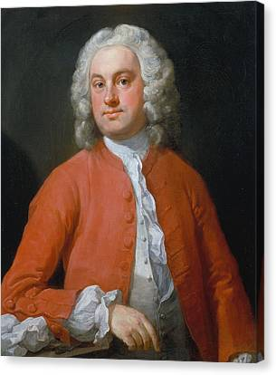 Hogarth Canvas Print - Portrait Of A Man by William Hogarth