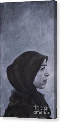 Moroccan Canvas Print - Portrait Of A Moroccan Girl by Jonathan Wommack
