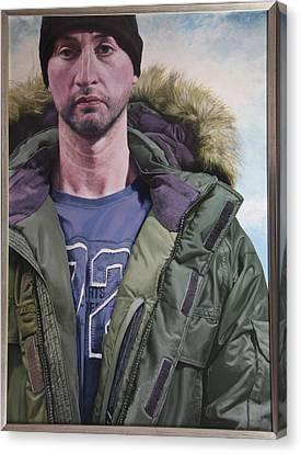 Portrait Of A Mountain Walker. Canvas Print by Harry Robertson