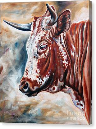 Portrait Of A Nguni Canvas Print by Ilse Kleyn