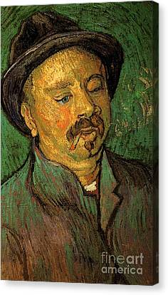 Portrait Of A One-eyed Man Canvas Print by Vincent Van Gogh