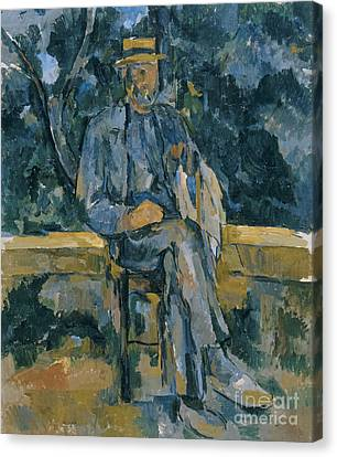 Portrait Of A Peasant Canvas Print by Paul Cezanne