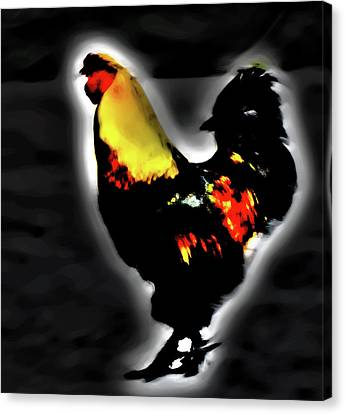 Portrait Of A Rooster Canvas Print
