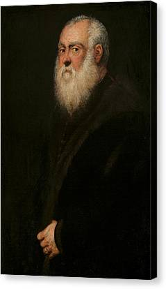 Portrait Of A White-bearded Man  Canvas Print by Tintoretto