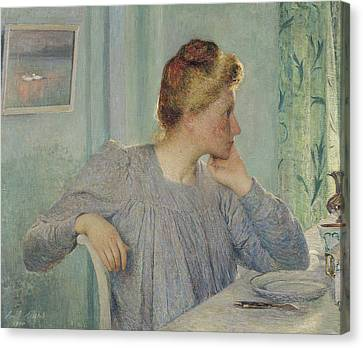 Portrait Of A Woman, 1900 Canvas Print by Emile Claus