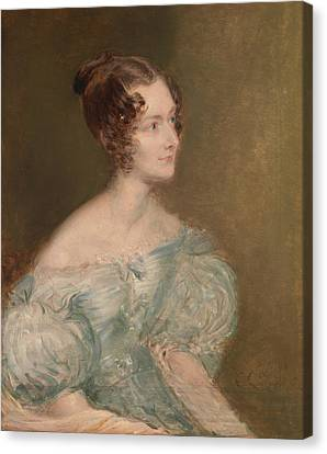 Portrait Of A Woman, Probably Mrs. Price Of Rugby Canvas Print by John Linnell