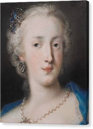 Portrait Of A Woman Canvas Print by Rosalba Carriera
