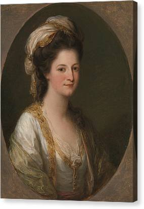 Portrait Of A Woman, Traditionally Identified As Lady Hervey Canvas Print by Angelica Kauffman