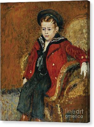 Portrait Of A Young Boy Canvas Print by Celestial Images
