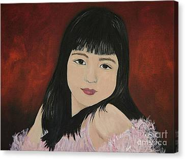 Portrait Of A Young Girl Canvas Print by Reb Frost