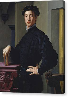Portrait Of A Young Man Canvas Print by Bronzino