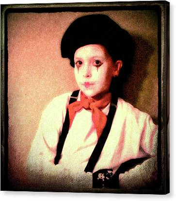 Portrait Of A Young Mime Canvas Print