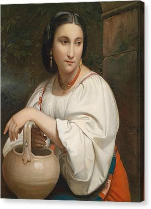 Portrait Of A Young Roman Canvas Print by William-Adolphe Bouguereau